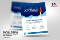 Social Media Management Service Flyer Template in Social Media Brochure Template