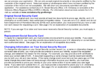 Social Security Application Form – 5 Free Templates In Pdf intended for Social Security Card Template Free