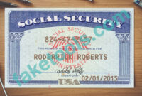 Social Security Card Psd Template | Psd Templates, Card for Ssn Card Template