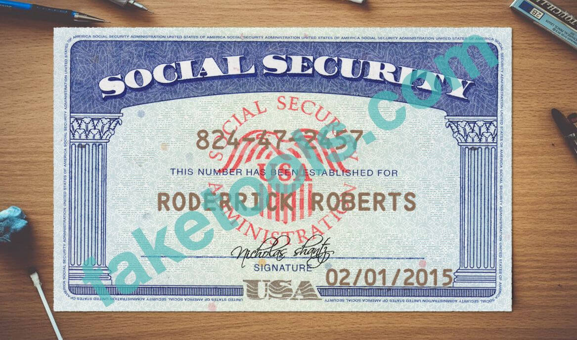 Social Security Card Psd Template | Psd Templates, Card With Regard To Social Security Card Template Psd