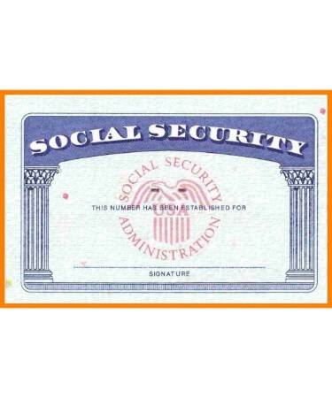 Social Security Card Template Pdf - Free Download (Printable) For Ss Card Template
