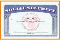 Social Security Card Template Pdf – Free Download (Printable) intended for Social Security Card Template Free