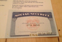 Social Security Number Identity Theft Expert Information with Ss Card Template