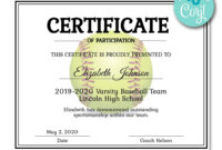 Softball Certificate | Certificate Templates, Printable with regard to Softball Certificate Templates Free