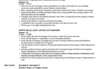 Software Quality Assurance Engineer Resume Samples | Velvet Jobs in Software Quality Assurance Report Template