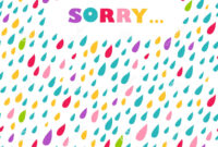 Sorry' Card. Drops Background. Stock Vector – Illustration inside Sorry Card Template