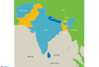 South Asia Map Free Templates – Free Powerpoint Templates regarding Blank City Map Template