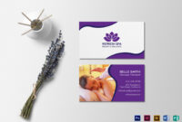 Spa Center Business Card Template Throughout Massage Therapy Business Card Templates