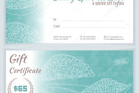 Spa Gift Certificate Template | Certificatetemplategift with regard to Spa Day Gift Certificate Template