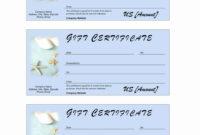 Spa Gift Certificate Template Free Beautiful Spa Gift regarding Spa Day Gift Certificate Template