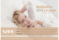 Spa Gift Certificate Template inside Spa Day Gift Certificate Template