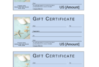 Spa Gift Voucher With Cash Value | Templates At inside Golf Gift Certificate Template