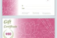 Spa Massage Gift Certificate Template inside Massage Gift Certificate Template Free Download