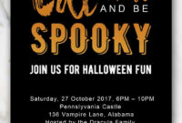Spiderweb Halloween Invitation Template | Halloween with Free Halloween Templates For Word
