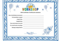 Spin Master – Build A Bear Build A Bear Workshop® Furry with Build A Bear Birth Certificate Template