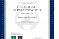 Sport Theme Certificate Of Participation Template Stock in Star Naming Certificate Template