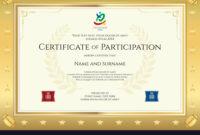 Sport Theme Certificate Of Participation Template with regard to Certificate Of Participation Template Pdf