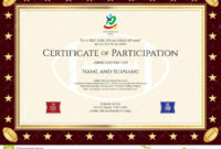 Sport Theme Certification Of Participation Template Stock throughout Free Templates For Certificates Of Participation