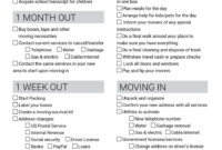 Spreadsheet Moving House Checklist Free Printable Download pertaining to Moving Home Cards Template