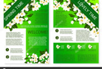 Spring Flowers Welcome Brochure Template Design — Stock pertaining to Welcome Brochure Template