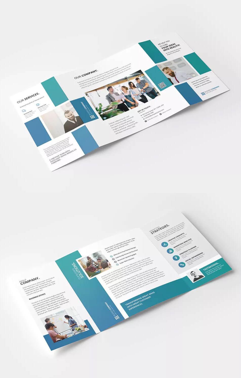 Square Gate Fold Brochure Template Psd - Cmyk Color Mode Throughout Gate Fold Brochure Template Indesign