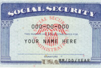 Ssn Editable Social Security Card Social Security Card for Ssn Card Template