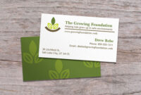Standard Business Cards | Business Cards Layout, Premium in Gardening Business Cards Templates