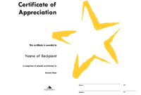 Star Certificate Templates Free – Forza.mbiconsultingltd throughout Star Certificate Templates Free
