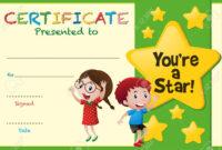 Star Certificate Templates Free – Zimer.bwong.co regarding Star Award Certificate Template