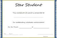 Star Student Award Certificate Template – Sample Templates intended for Star Certificate Templates Free