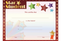 Star Student Certificate – Free Printable Download throughout Free Student Certificate Templates