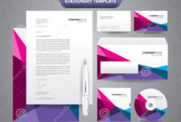 Stationery Template Polygonal Stock Vector – Illustration Of for Business Card Letterhead Envelope Template