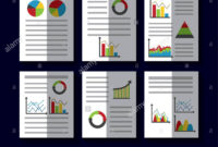 Statistics Data Business Report Template Style Charts And Throughout Illustrator Report Templates