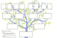 Stepfamily Family Tree Template, Step-Parent Relationships intended for Fill In The Blank Family Tree Template
