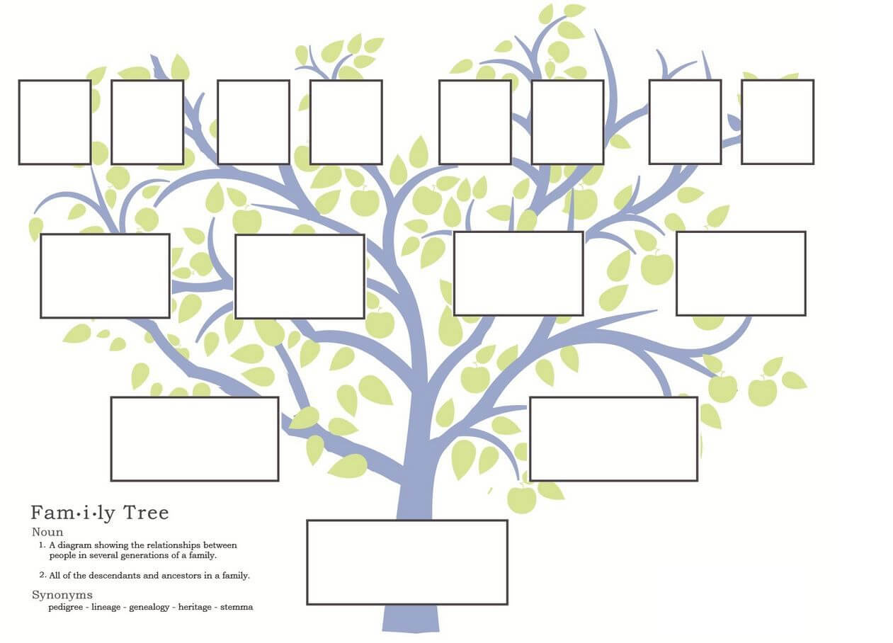 Stepfamily Family Tree Template, Step Parent Relationships Intended For Fill In The Blank Family Tree Template