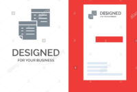 Sticky, Files, Note, Notes, Office, Pages, Paper Grey Logo in Pages Business Card Template