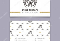 Stone Therapy Business Card. Massage, Beauty Spa, Relax With Regard To Massage Therapy Business Card Templates