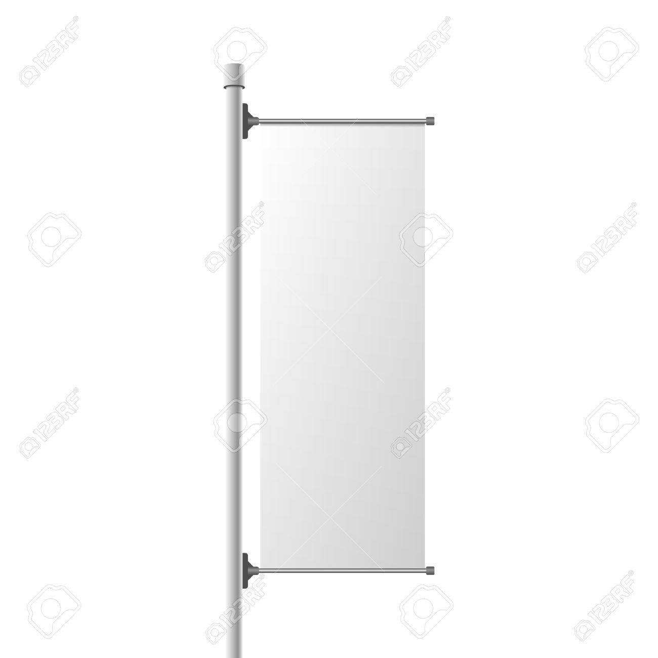 Street Banner Realistic Mockup. Commercial Billboard Template.. Inside Street Banner Template