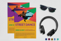 Street Dance Flyer Template With Dance Flyer Template Word