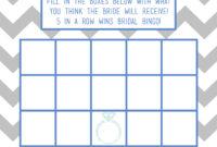 Striking Bingo Card Template Free Ideas Generator For regarding Blank Bridal Shower Bingo Template