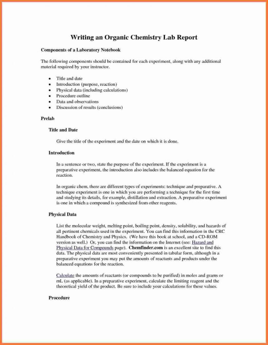 Striking Chemistry Lab Report Template Ideas Google Docs For Lab Report Template Chemistry