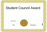 Student Council Award | Templates At Allbusinesstemplates intended for Free Student Certificate Templates