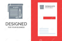 Student, Notes, Note, Education Grey Logo Design And regarding Student Business Card Template