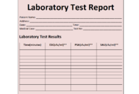 Student Report Template throughout Weekly Test Report Template
