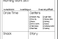 Students' Stuff | Preschool Daily Report, Preschool Lessons pertaining to Daily Behavior Report Template