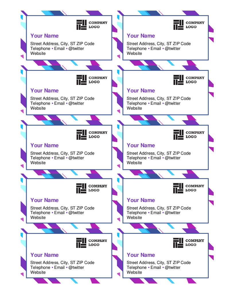 Stunning Business Card Template Free Word 2007 Ideas Inside Business Card Template For Word 2007
