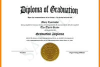 Stunning Graduation Certificate Template Word Ideas Gift throughout Graduation Certificate Template Word