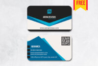 Stylish Business Card Design | Free Download – Arenareviews with Visiting Card Templates Download