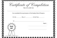 Sunday School Promotion Day Certificates | Sunday School inside Player Of The Day Certificate Template