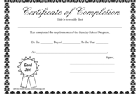 Sunday School Promotion Day Certificates | Sunday School Throughout 5Th Grade Graduation Certificate Template